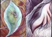 Caryl St Ama - LeafDiptych